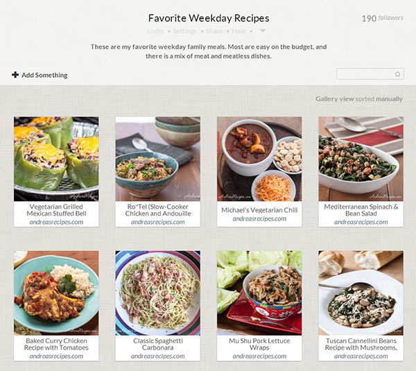 Andrea's Cooking Kickstarter (Favorite Weekday Recipes) - Springpad