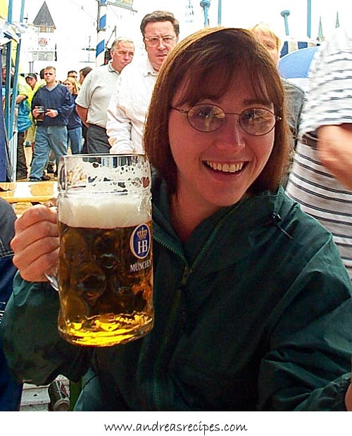 Andrea Meyers - Andrea at Oktoberfest in Munich, Germany, 2000
