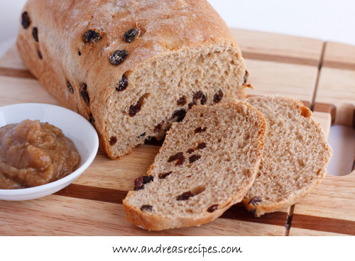 Andrea Meyers - BBA Challenge: Cinnamon Raisin Bread with Whole Wheat