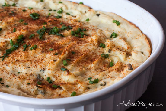Andrea Meyers - Baked Garlic Mashed Potatoes with Herbs