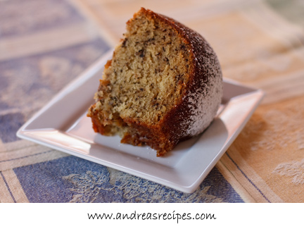 Andrea's Recipes - Banana Bundt Cake