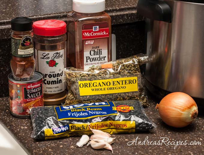 Spicy Mexican Black Beans (The Kids Cook Monday), ingredients - Andrea Meyers