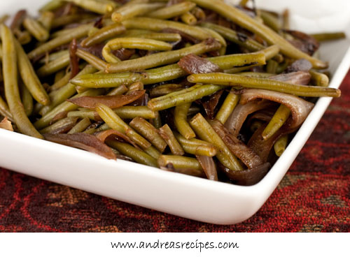 Andrea Meyers - Green Beans with Caramelized Red Onions