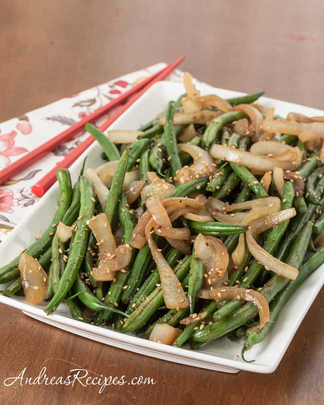 Sesame Green Beans Recipe - Andrea Meyers