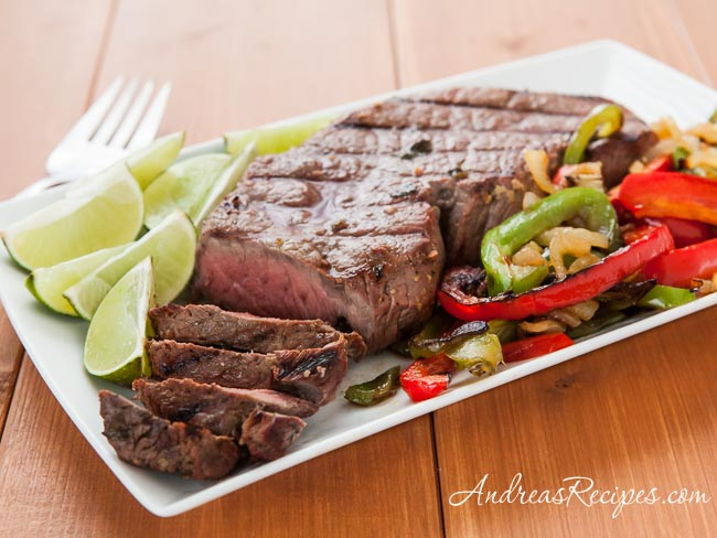 Beef Fajitas with Lime Beer Marinade Recipe - Andrea Meyers