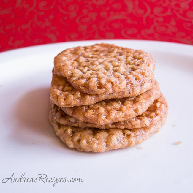 Andrea's Recipes - Benne Wafers