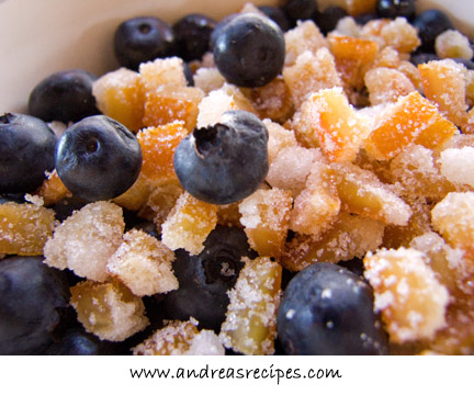 Blueberries with Candied Orange Peel