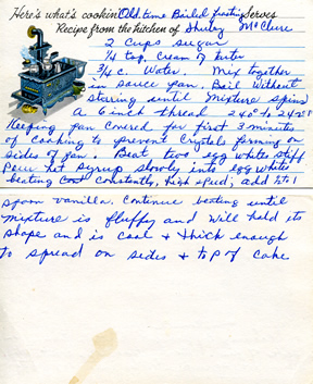 Grandma's Boiled Frosting recipe