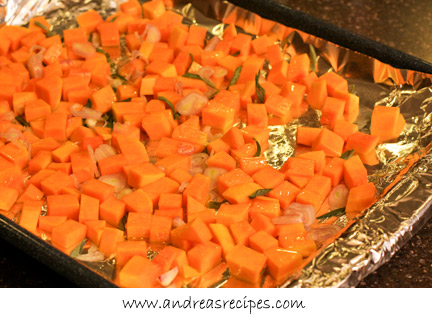 Andrea's Recipes - Roasted butternut squash with shallots and sage
