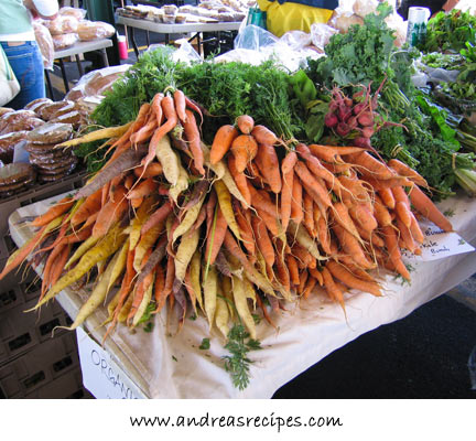Andrea's Recipes - Carrots at the Central New York Regional Market, Syracuse