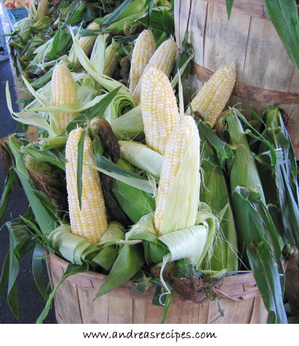 Andrea's Recipes - Corn in season at the Central New York Regional Market, Syracuse