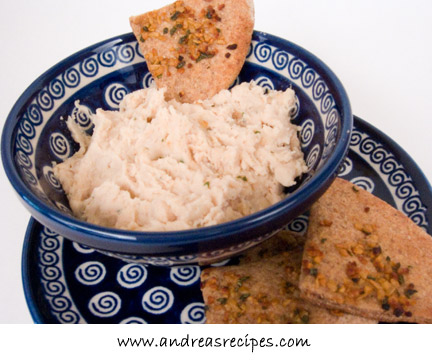 Cannellini Bean Dip with Herbed Pita
