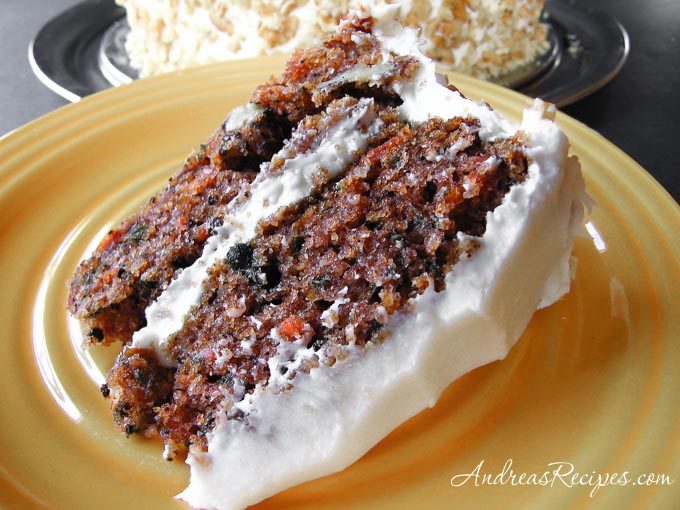 Andrea Meyers - Carrot Cake with Cream Cheese Frosting