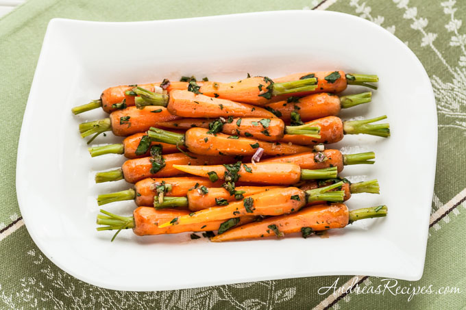 Steamed Baby Carrots Recipe with Ginger-Garlic Butter - Andrea Meyers