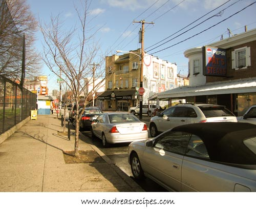 Andrea Meyers - Philly Cheesesteak corner, 9th and Wharton Streets at Passyunk in South Philly