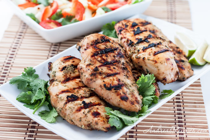 Andrea Meyers - Thai Grilled Chicken with Coconut Milk Marinade