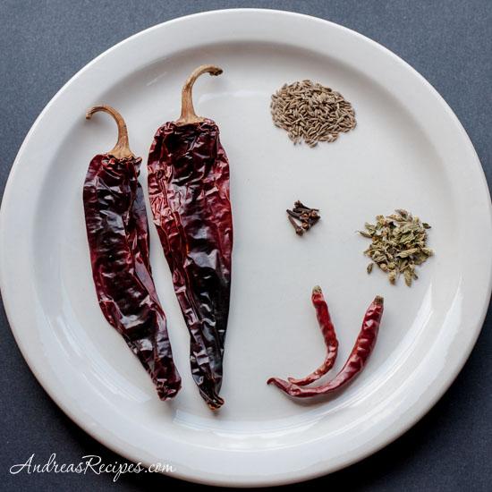 Andrea's Recipes - Grilled Adobo Chicken (Pollo Adobado), spices