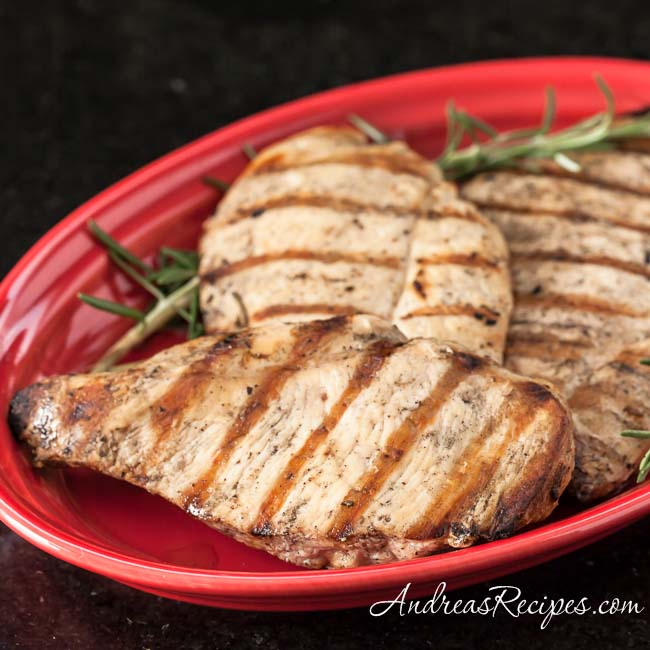 Grilled Chicken with Lemon and Rosemary - Andrea Meyers