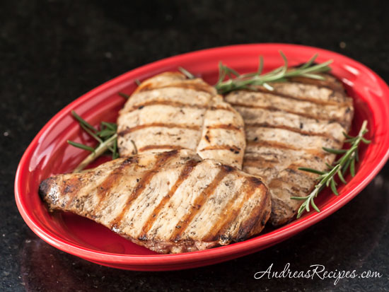 Grilled Chicken with Lemon and Rosemary