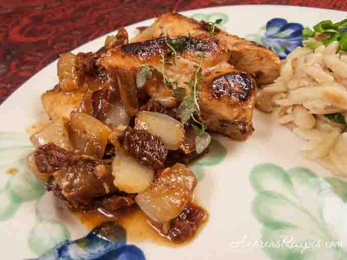 Andrea's Recipes - Chicken with Sun-Dried Tomatoes, Shallots, and Thyme