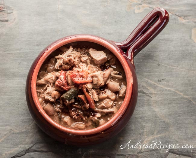 Andrea Meyers - White Chili with Turkey and Cannellini Beans