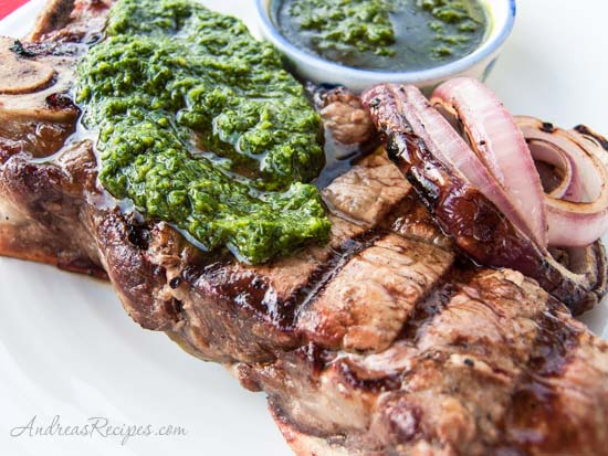 Chimichurri Sauce with Steak - Andrea Meyers