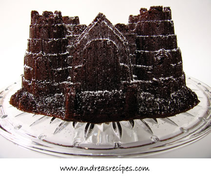 Chocolate Birthday Cake, shaped like a sand castle