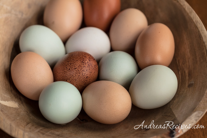 Andrea Meyers - Heritage eggs from Locksley Estate