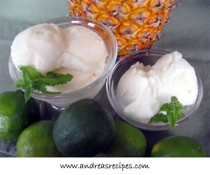 Coconut Cream Sorbets