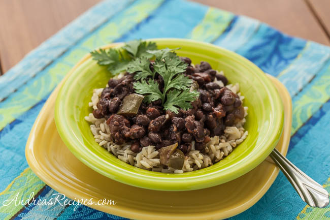 Slow Cooker Cuban-Style Black Beans with Rice