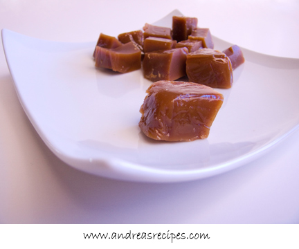 Andrea's Recipes - Golden Vanilla Bean Caramels