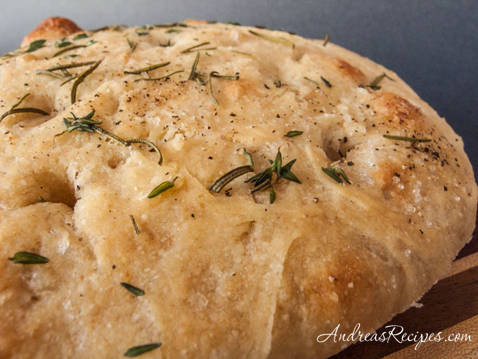 Tender Potato Bread Focaccia - Andrea Meyers