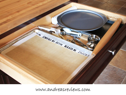 Andrea's Reviews - KraftMaid Floating Island Base drawer