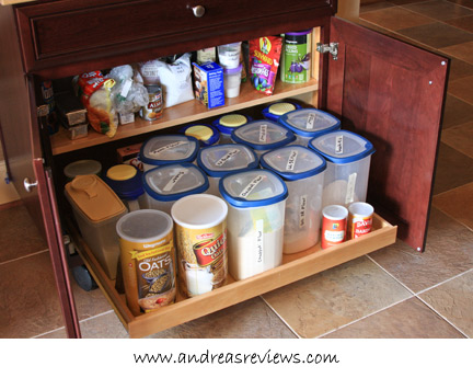 Andrea's Reviews - KraftMaid Floating Island Base pullout shelf