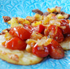 Anne's Food - Crispy Polenta with Mozzarella & Caramelized Cherry Tomatoes