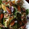 She Spills the Beans - Red Leaf and Basil Salad with Emerald Beaut and Moyer Plums and a Fig-Balsamic Vinaigrette