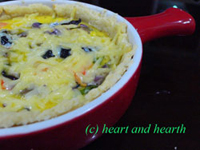 Heart and Heart, Prawns and Mushroom Quiche