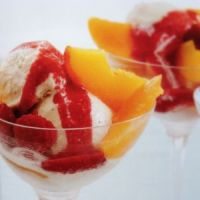 Fun and Food, Peach Melba and Vanilla Cardamom Ice Cream
