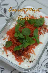 Masala Heaven - Carrot-Mint Raita
