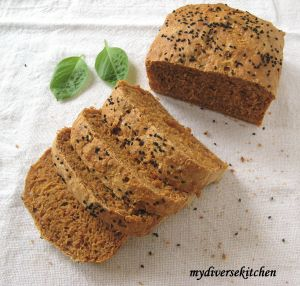 My Diverse Kitchen - Tomato Bread with Fresh Basil