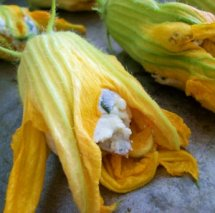 What Smells So Good? - Roasted Squash Blossoms with Tri-Color Filling