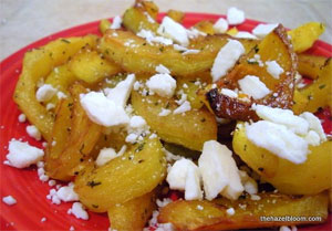 The Hazel Bloom - Roasted Squash with Rosemary and Feta