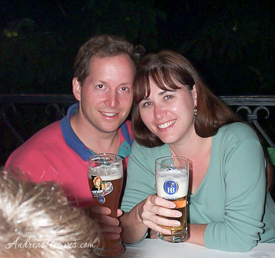 Andrea Meyers - Michael and Andrea at Hofbrau Haus, Munich