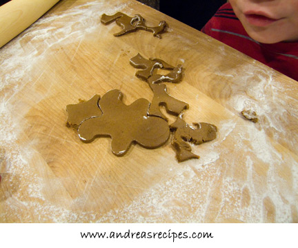 Cutting the ginger bread men