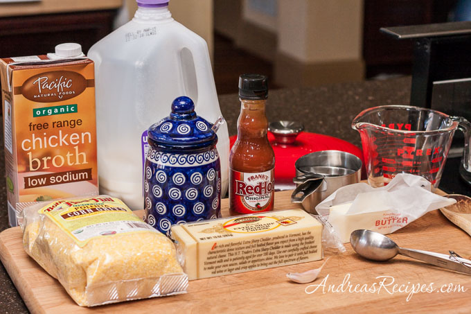 Andrea Meyers - Ingredients for making grits.