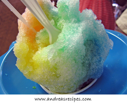 Hawaii shave ice from Aoki's in Haleiwa, North Shore