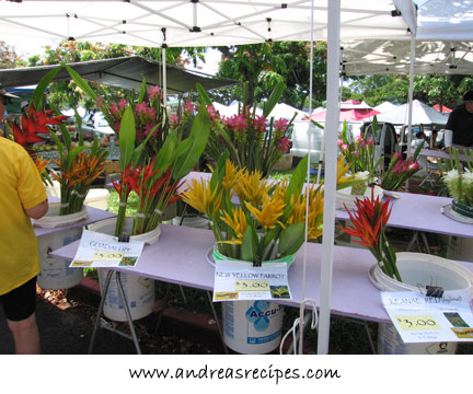 Flowers at the KCC Farmers' Market, Hawaii