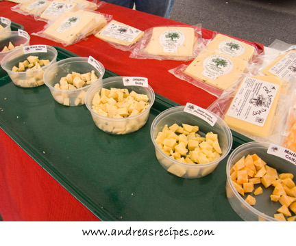 cheese samples, Oak Spring Dairy