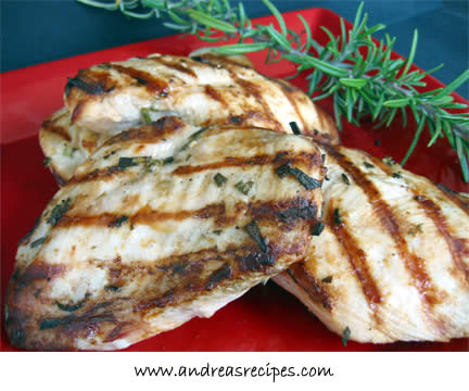 Andrea's Recipes - Lemon Herb Marinated Chicken