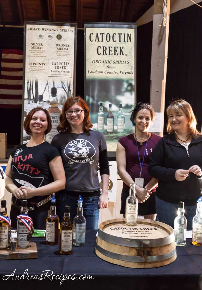 Andrea Meyers - NoVa Roller Derby gals and Catoctin Creek Distillery